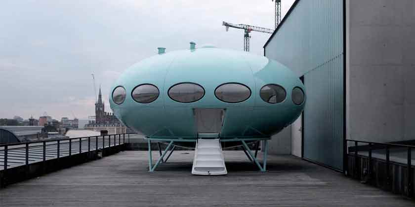 Дом летающая тарелка Futuro House Матти Сууронена | фото