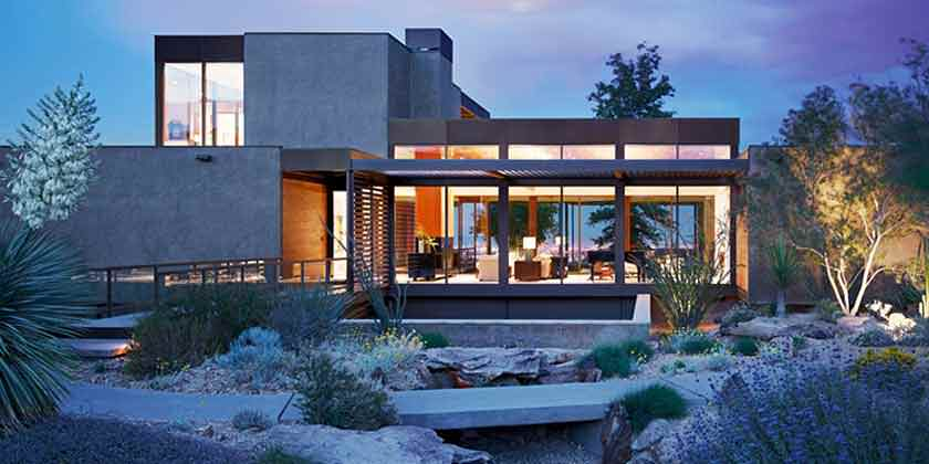 Модульный дом в Лас-Вегасе от Marmol Radziner | фото, план