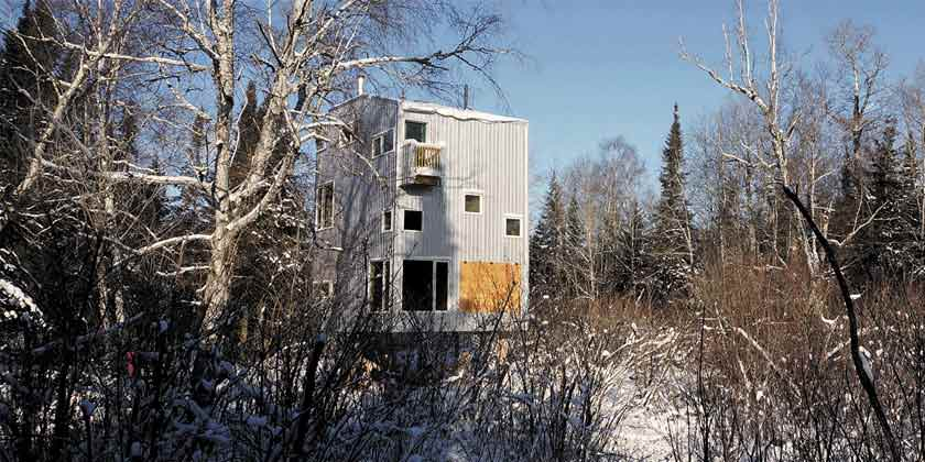 Полярный дом с видом на озеро от студии DIN Projects | фото