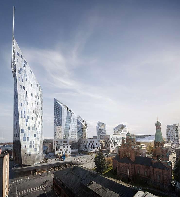 Геометрические башни в Тампере. Проект Studio Libeskind