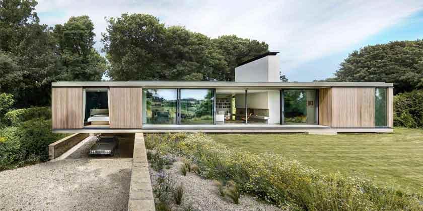 Каркасный панорамный дом в Англии от Strom Architects