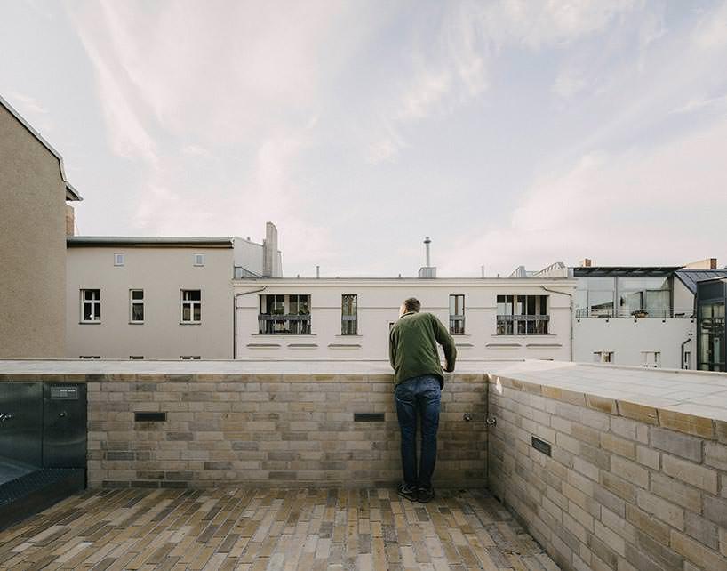 Вид с террасы на крыше частного дома