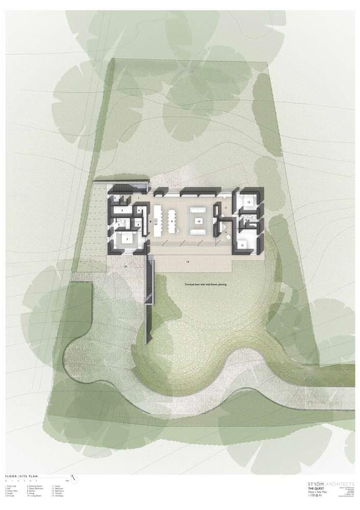 План дома с двумя спальнями