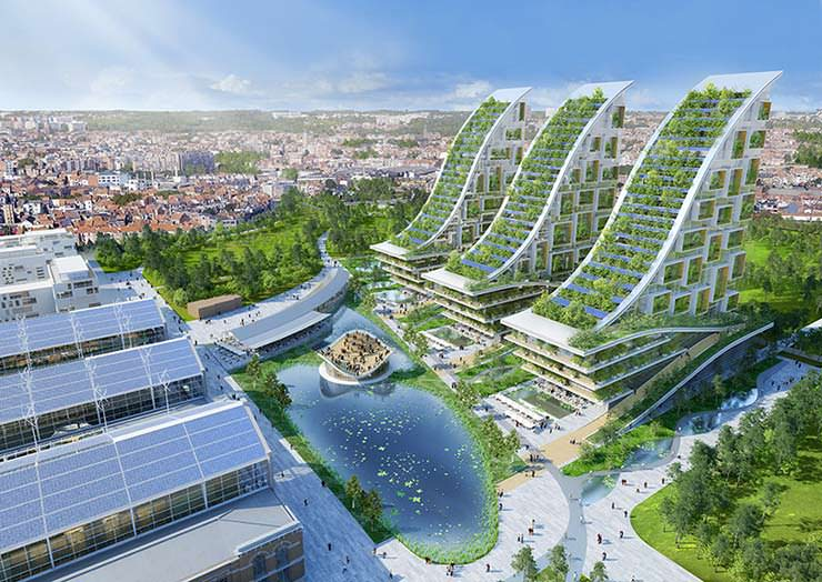Эко-квартал из промышленного района в центре Брюсселя