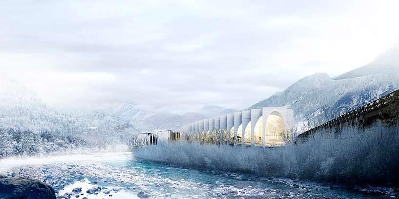Новый завод San Pellegrino в Альпах. Проект BIG