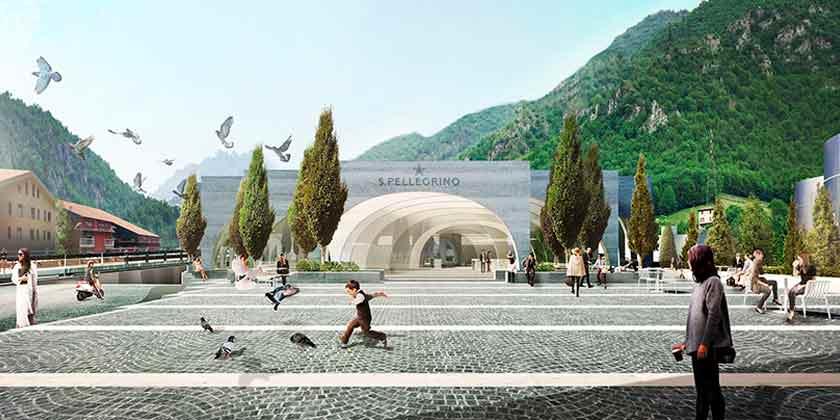 BIG построит новый завод San Pellegrino в горах Италии