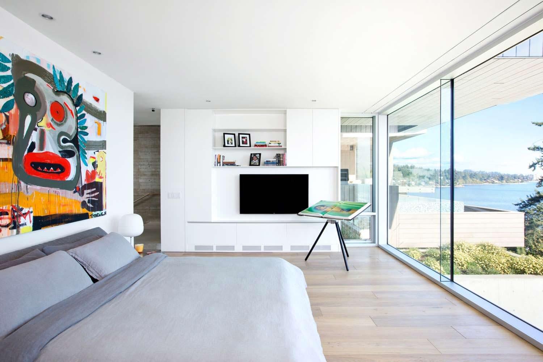 Спальня с видом на море Селиш