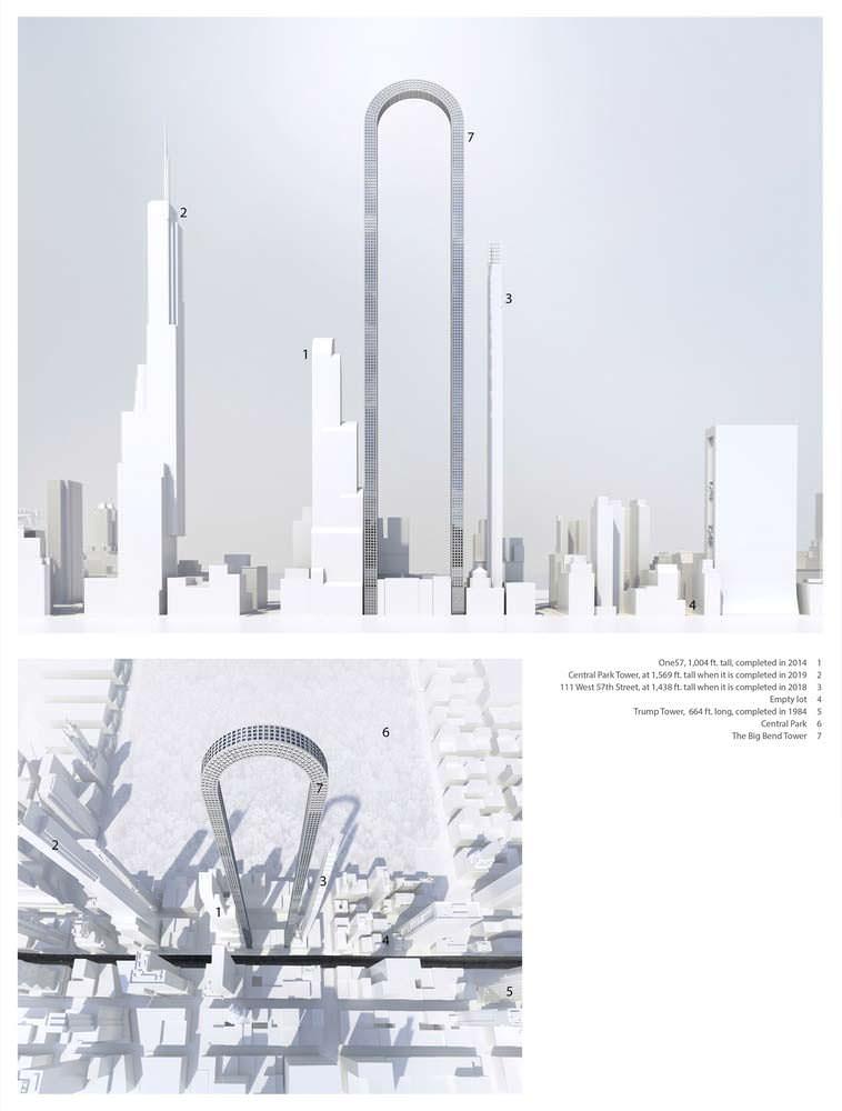 Схемы башни The Big Bend на Манхэттене