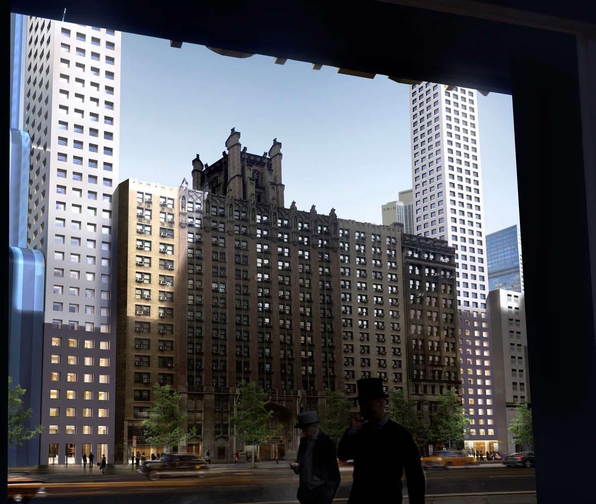 Небоскреб-арка на 57-й улице Нью-Йорка