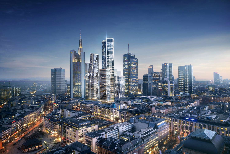 Новые небоскребы во Франкфурте. Проект UNStudio