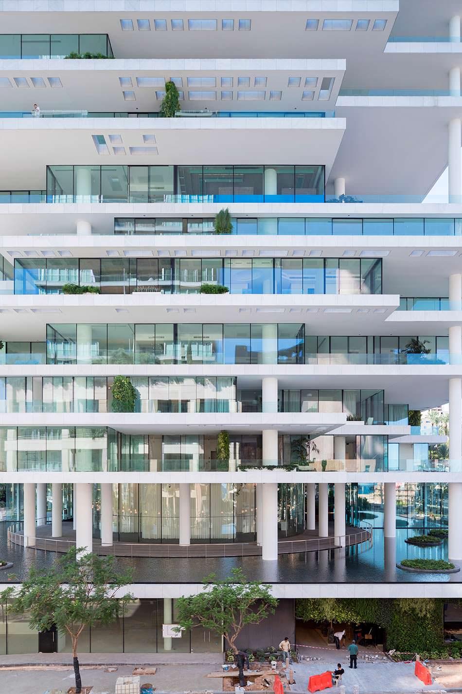 Уникальная планировка квартир башни Beirut Terraces