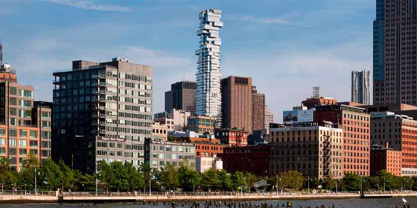 Фото небоскреба 56 Leonard в Нью-Йорке от Herzog & De Meuron