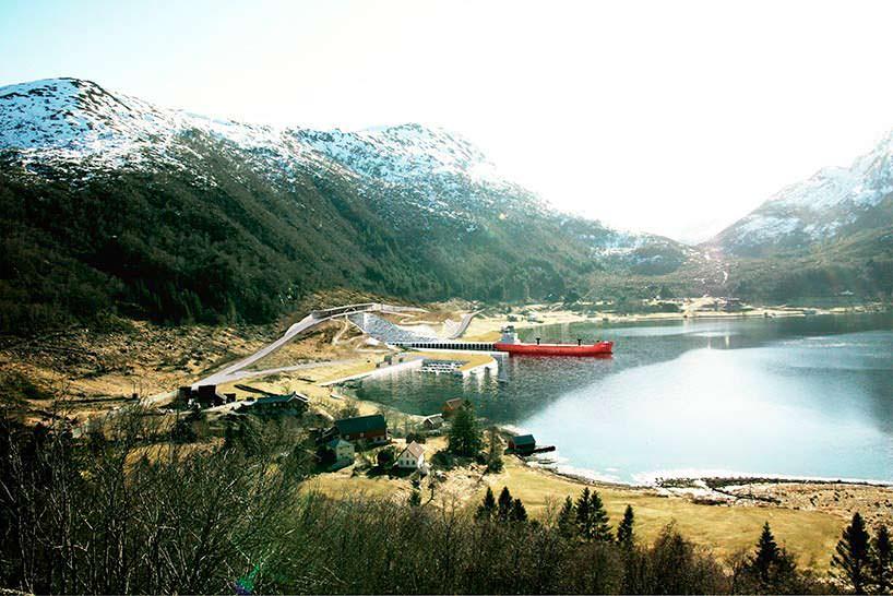 Фото   Первый в мире тоннель для кораблей. Проект Snøhetta