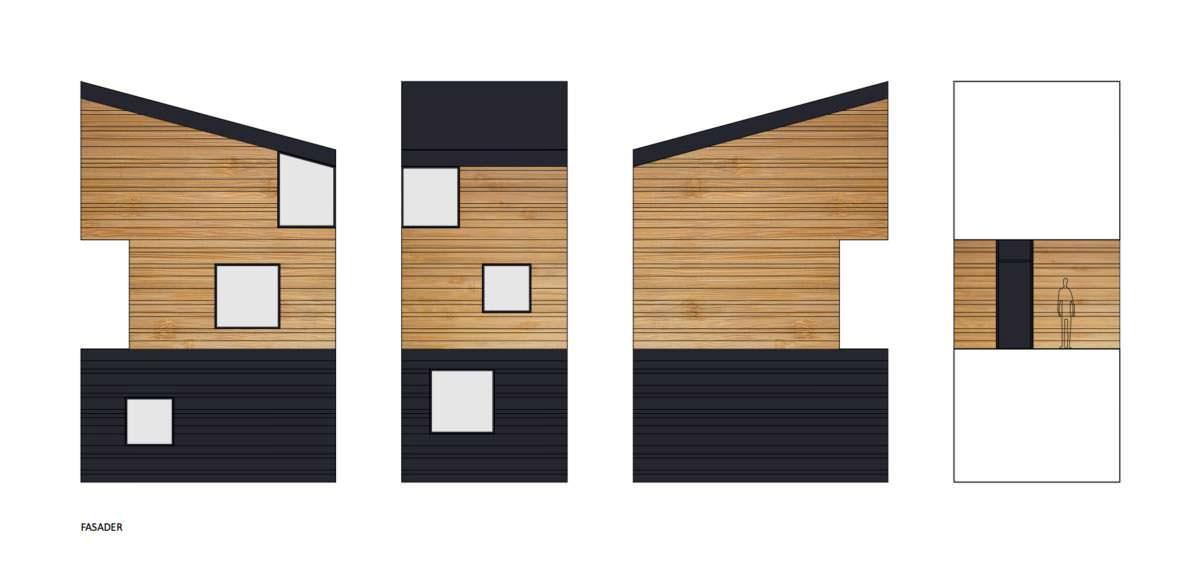 Дизайн фасада дома на отвесной скале Nestinbox от Manofactory