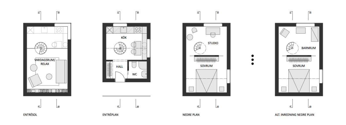 Планировка дома на отвесной скале Nestinbox от Manofactory
