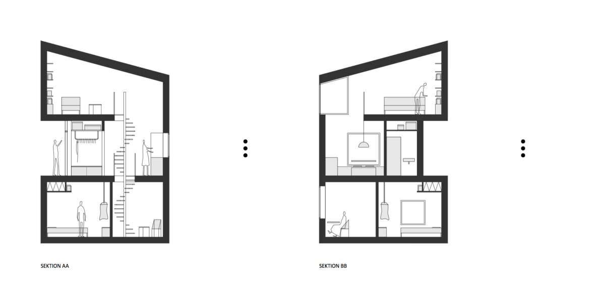 План дома на отвесной скале Nestinbox от Manofactory