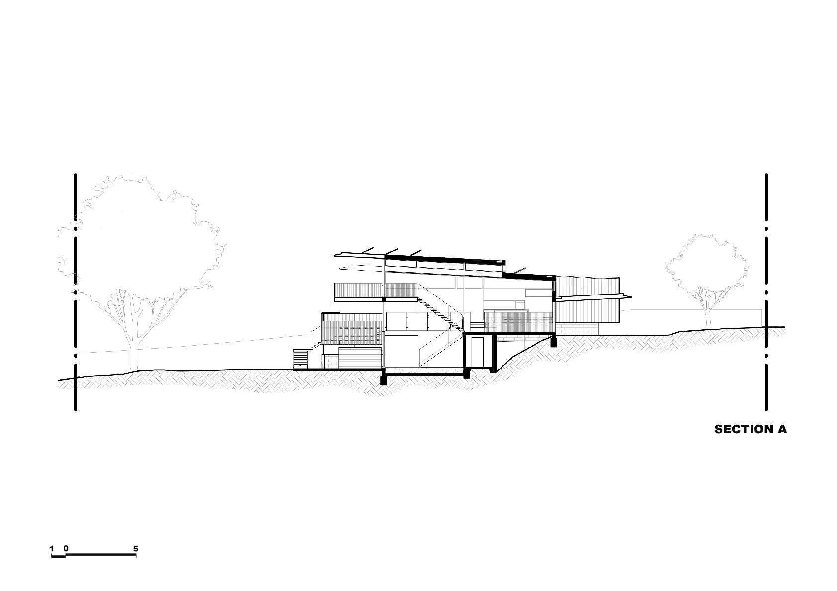 Схема   Экологичный двухэтажный дом от Zen Architects