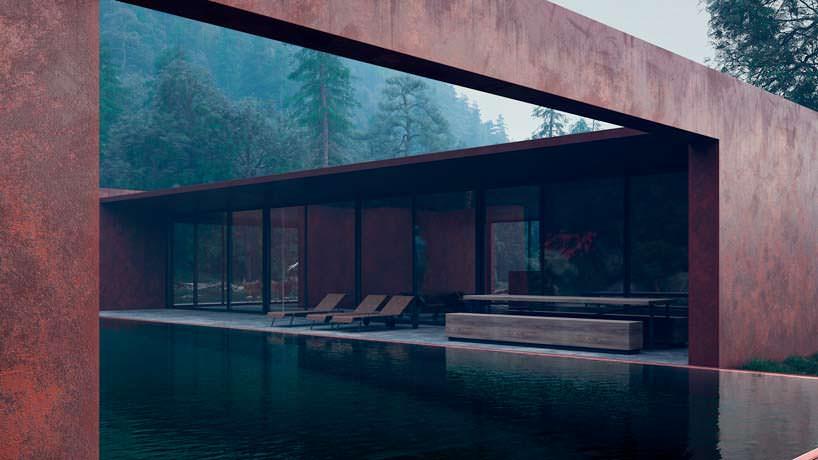 Дом в стиле минимализм в Карпатах площадью 160 кв.м.
