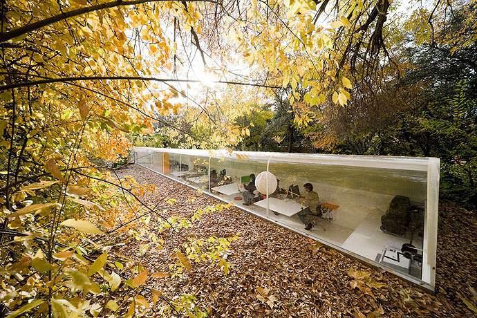 Офис в лесу студии Selgas Cano. Мадрид, Испания