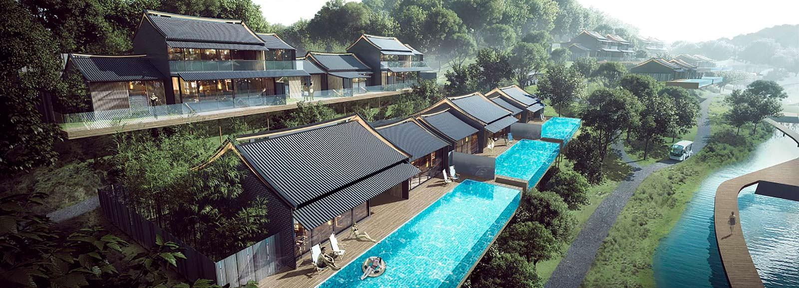 Курорт в китайском стиле от Aedas на острове Хэнгчин