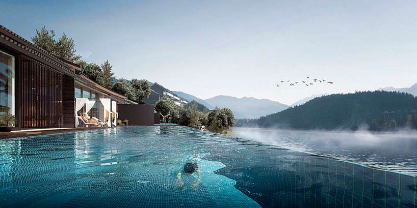 Роскошный курорт на берегу водохранилища Ниуцзяоенг в Китае