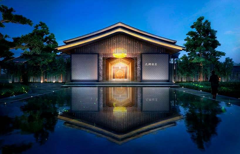 Китайские традиционные крыши отеля. Проект от Aedas