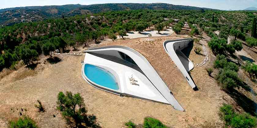 Villa Ypsilon в греческом ландшафте от студии LASSA | фото