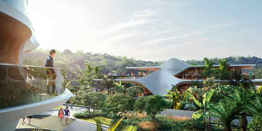 Zaha Hadid Architects построит элитный ЖК в Мексике | фото