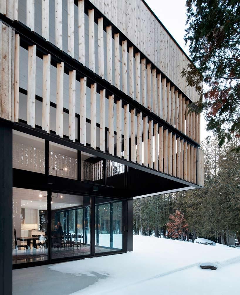 Дизайн дома с деревянным фасадом от ACDF Architects