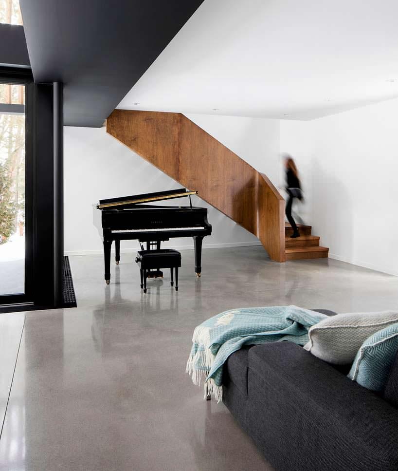 Рояль в дизайне дома. Проект ACDF Architects