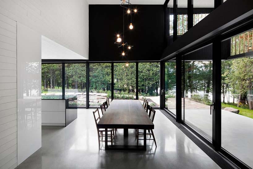 Дизайн Hi-Tech столовой в доме от ACDF Architects