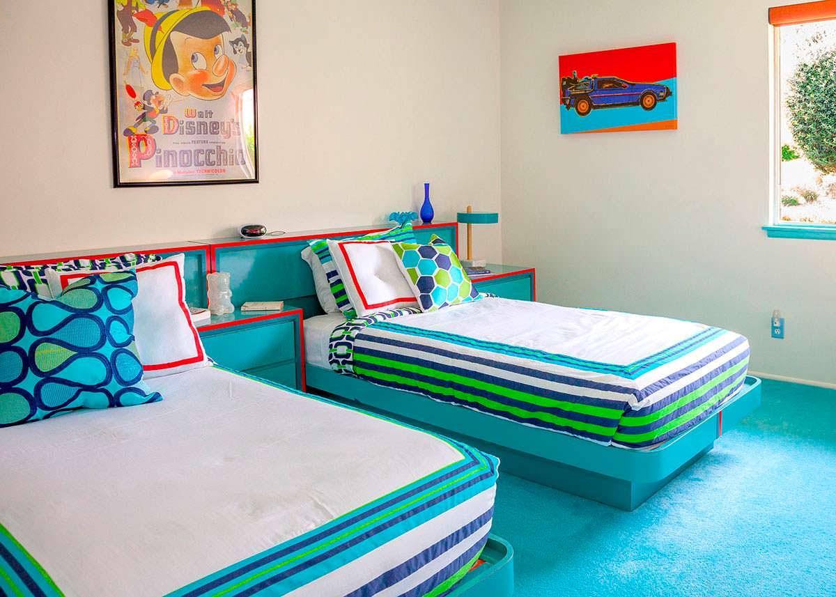 Детская спальня в доме Уолта Диснея в Калифорнии