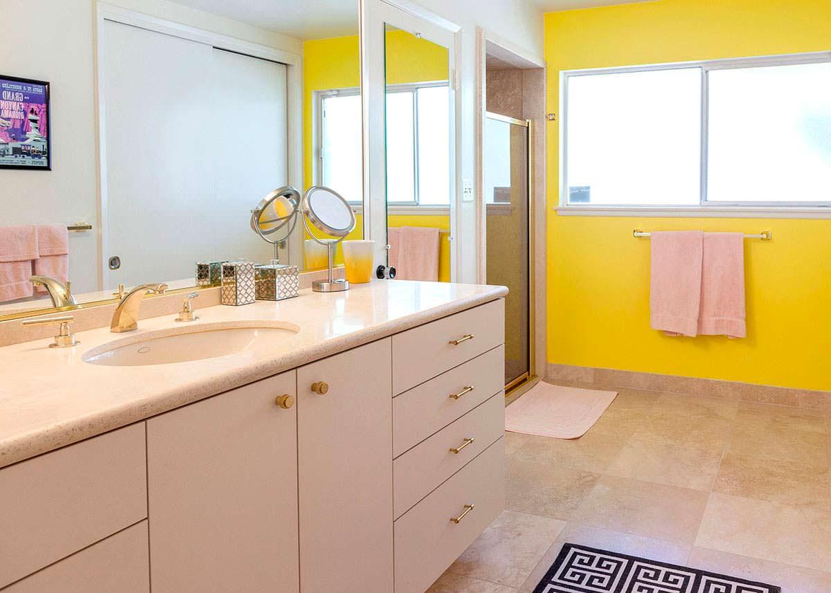 Дизайн ванной комнаты в доме Уолта Диснея в Калифорнии