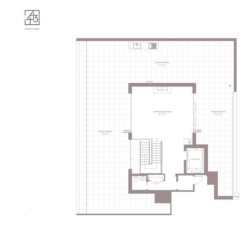 План второго этажа пентхауса Джастина Тимберлейка