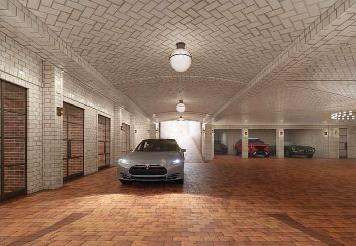 Подземный паркинг 443 Greenwich Street в Трайбеке