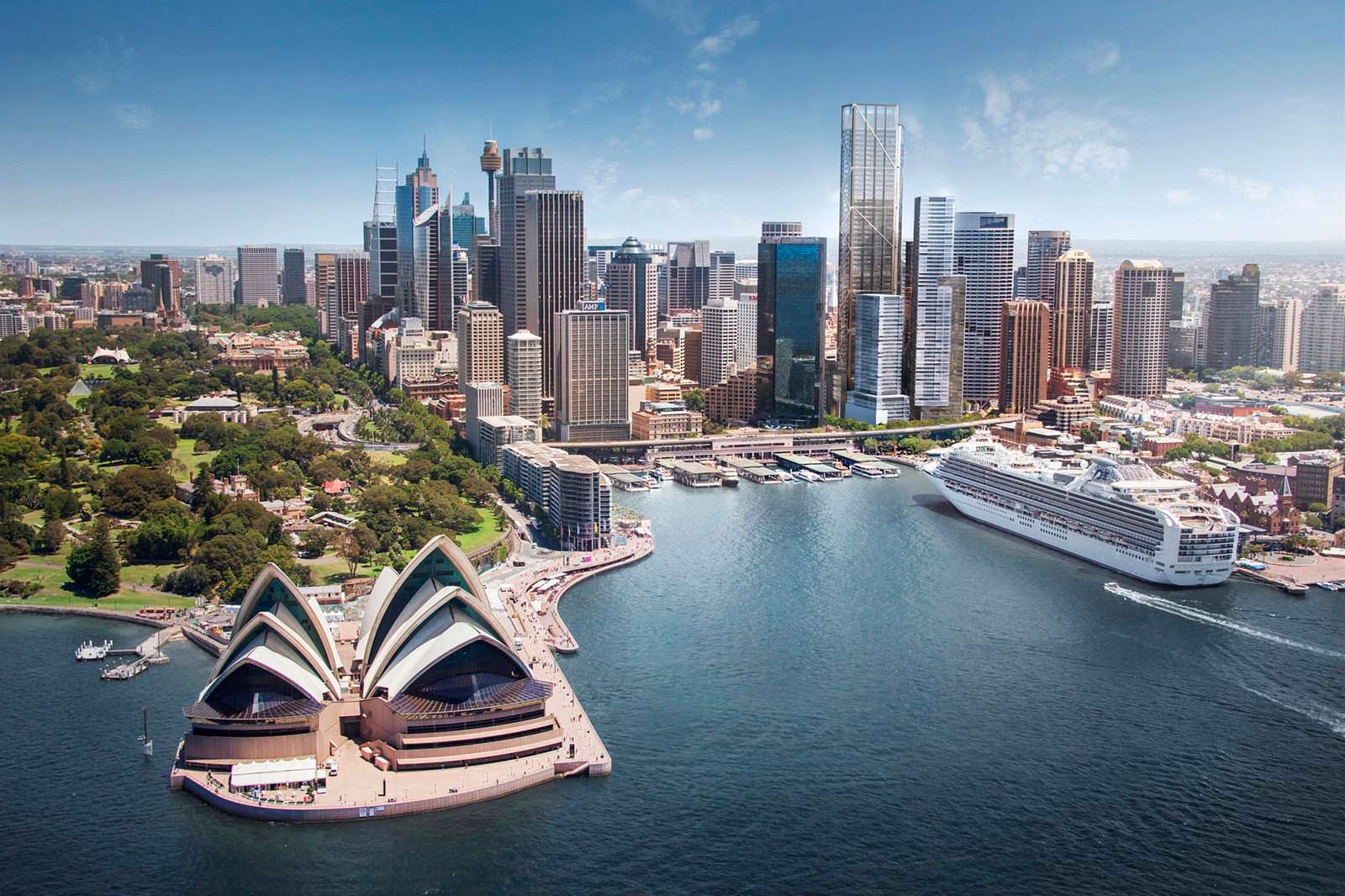 Гавань Сиднея и Сиднейский оперный театр