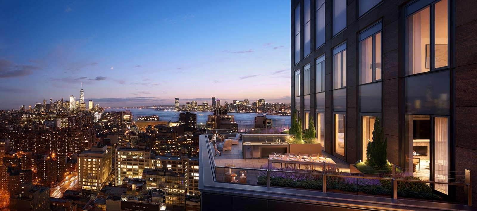 Пентхаус с террасой в небоскребе One Hudson Yards в Нью-Йорке