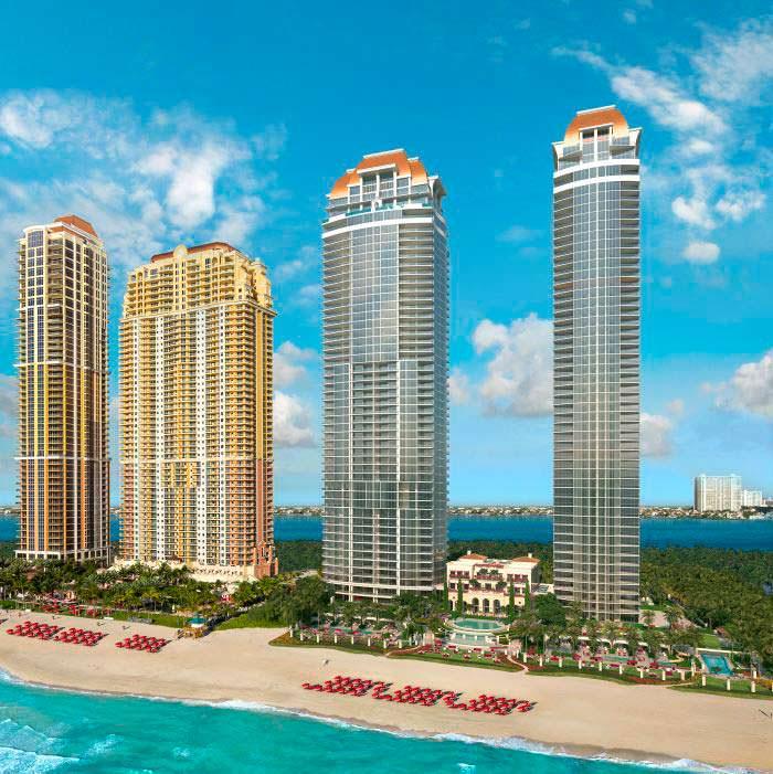 50-этажные небоскребы The Estates At Acqualina в Майами