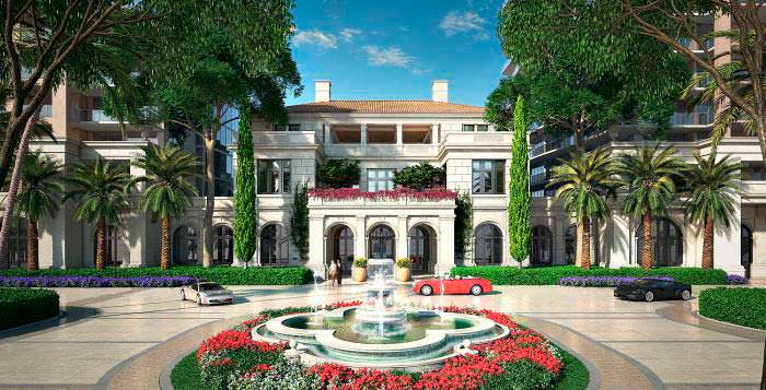 Лобби The Estates At Acqualina в Майами от The Trump Group