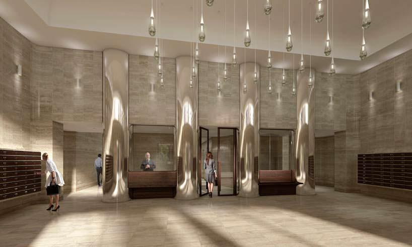 Дизайн холла башни Cooltoren в Роттердаме от V8 Architects