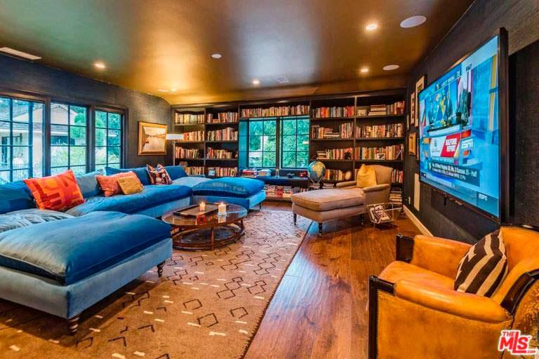 Дизайн библиотеки в доме актрисы Кейт Уолш