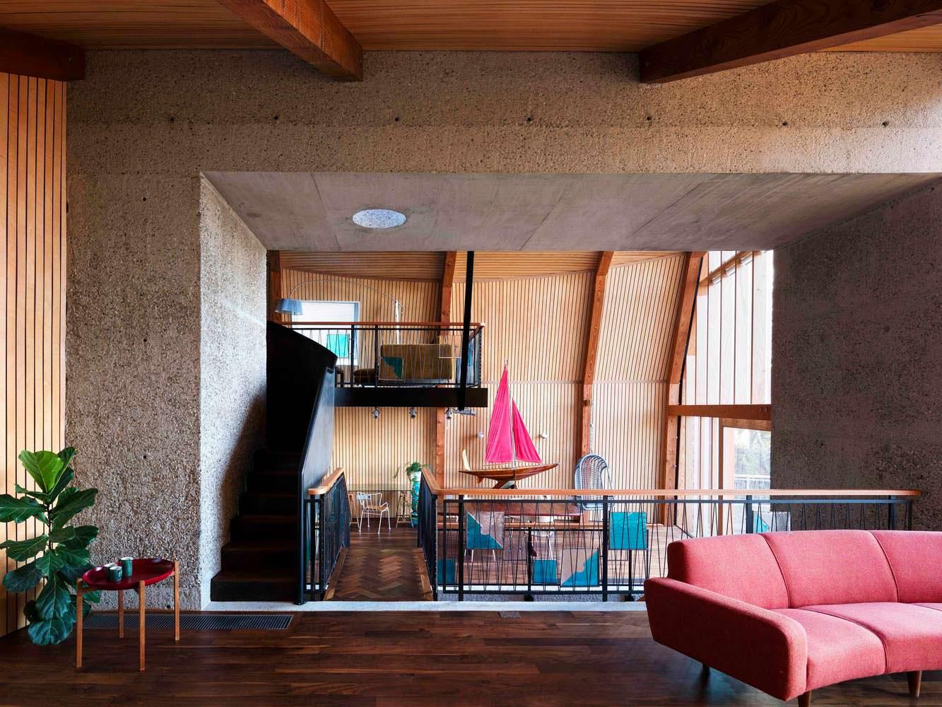 Открытая планировка дома. Дизайн Mole Architects