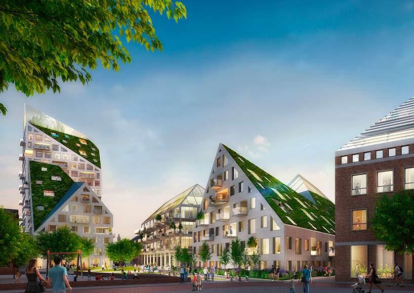 Жилой эко-квартал Nieuw Bergen в Эйндховене. Проект MVRDV