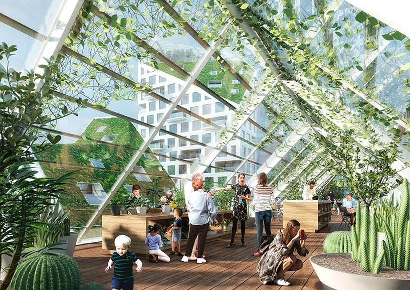 Скай-парк в здании эко-квартала Nieuw Bergen