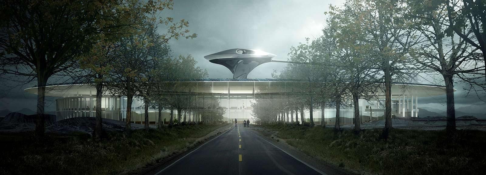 Штаб-квартира Faraday Future. Проект MAD Architecture