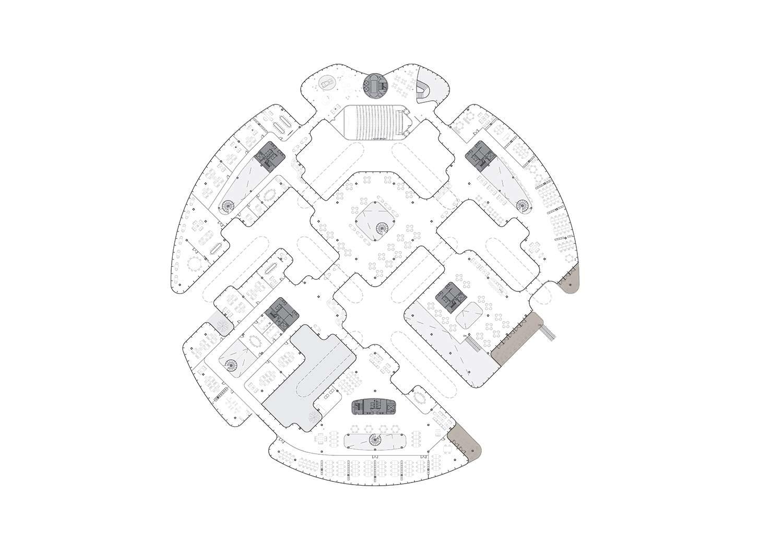 План уровня +1 кампуса Faraday Future от MAD Architecture