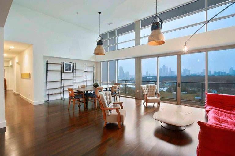 Дизайн квартиры с выходом на балкон в пентхаусе Элисон Ханниган