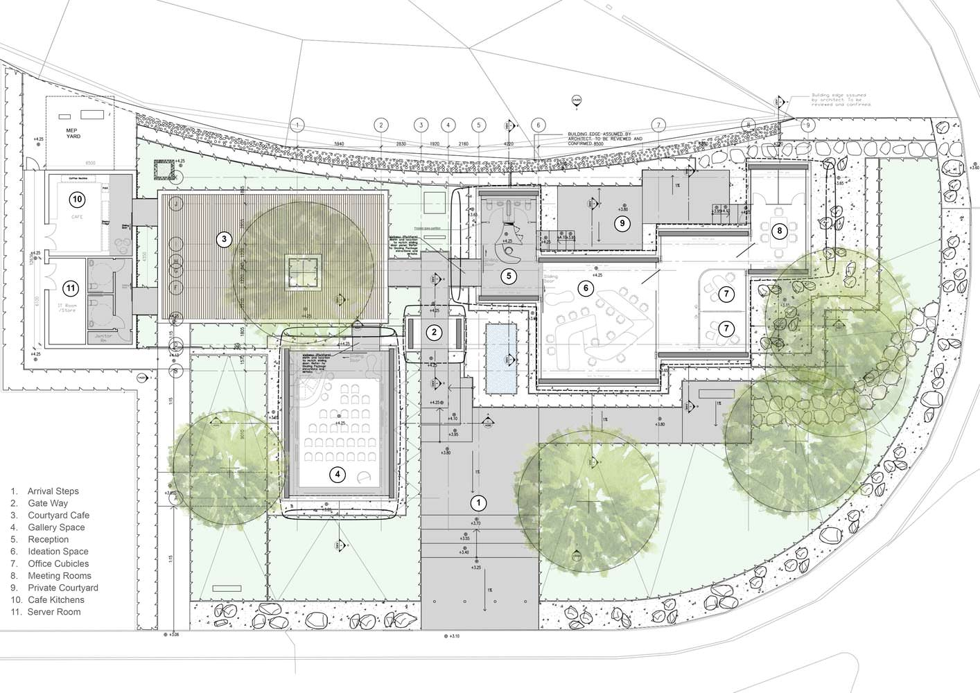 План офиса будущего Dubai Future Foundation