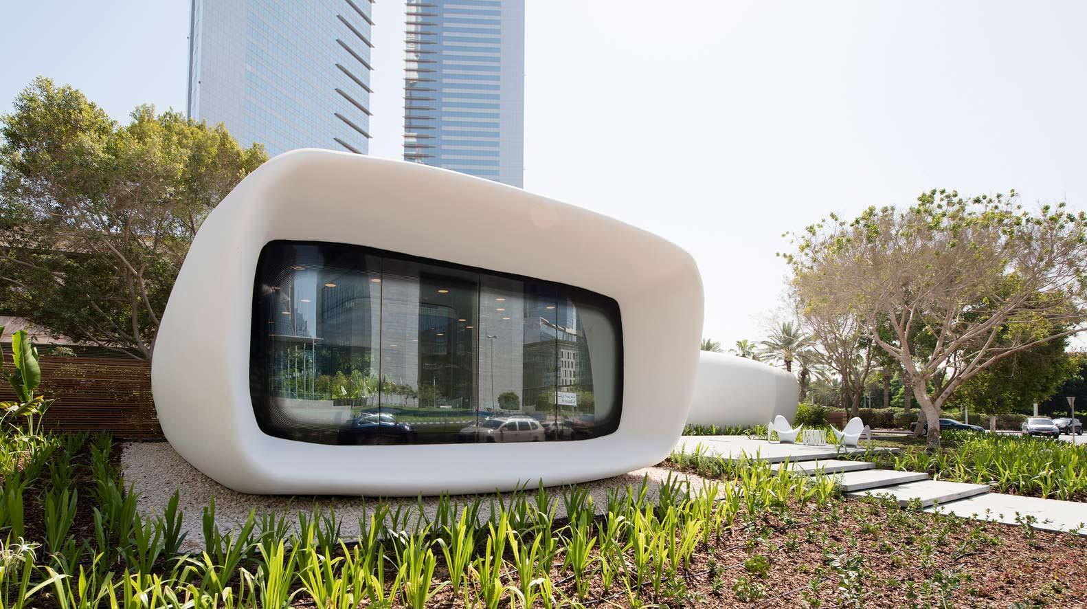 Здание, напечатанное на 3D-принтере Dubai Future Foundation