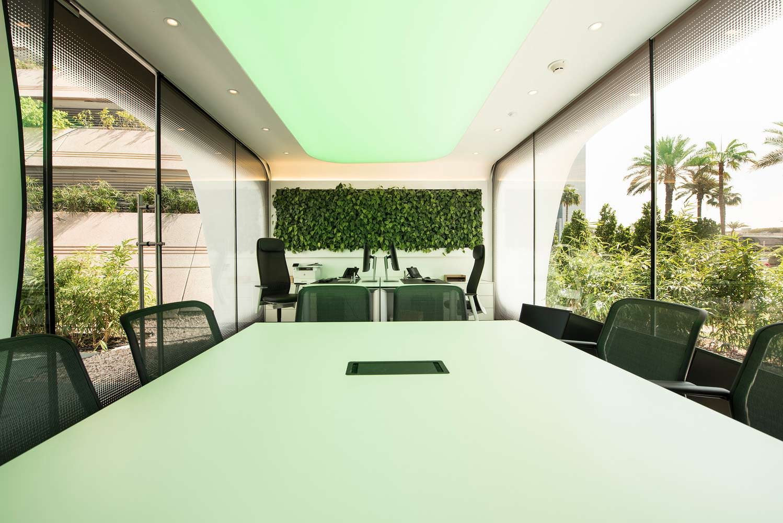 Дизайн кабинета в офисе будущего от Killa Design
